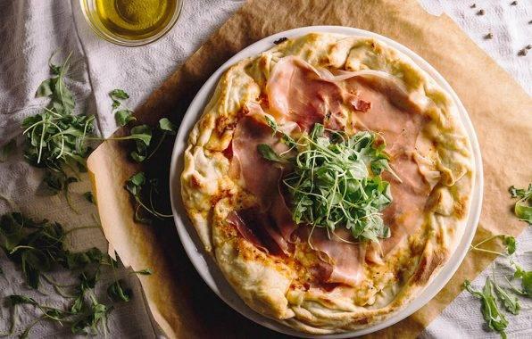 gezonde boekweit pizza met parmaham