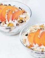 gegrilde perzik met kefir