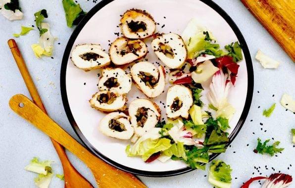 gevulde kipfilet met champignons