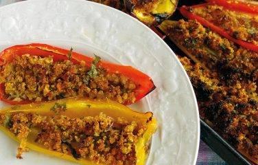 gevulde paprika met gehakt
