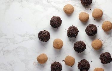 gezonde pure chocolade truffels