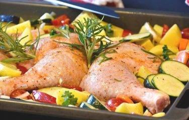 kip en groenten uit de airfryer