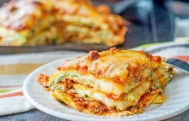 koolhydraatarme lasagne met gehakt