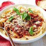 Koolhydraatarme spaghetti bolognese