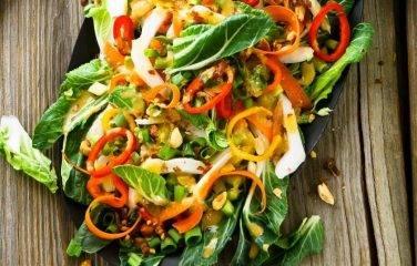 rettich salade met paksoi en gember recept