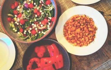 salade met spekjes