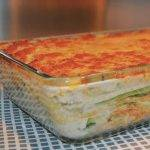 zalmlasagne met courgette broccoli