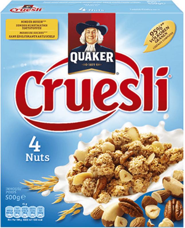 cruesli is eigenlijk krokante muesli. Dit lijkt misschien op granola maar is zeker niet helzelfde.