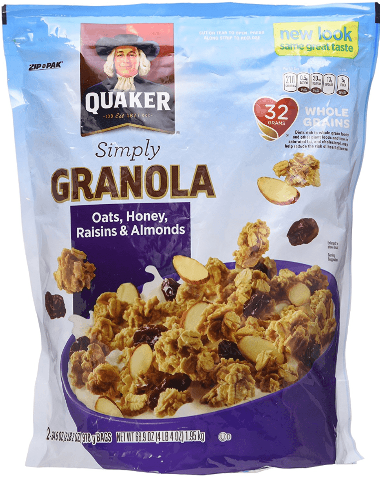 granola van quakers is veel gezonder
