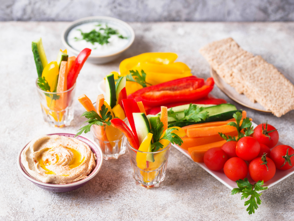 gesneden groenten is altijd gezond snoepen
