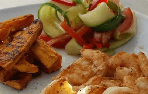 friet met garnalen en sojabonen recept