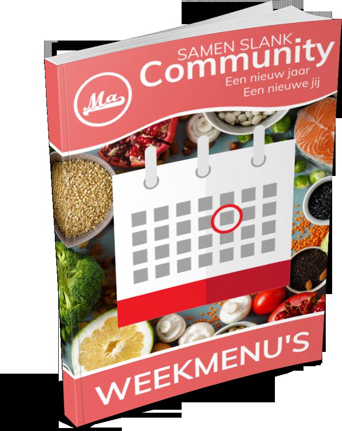 Sluit je aan bij de Samen Slank Community en ontvang welke week een nieuw menu