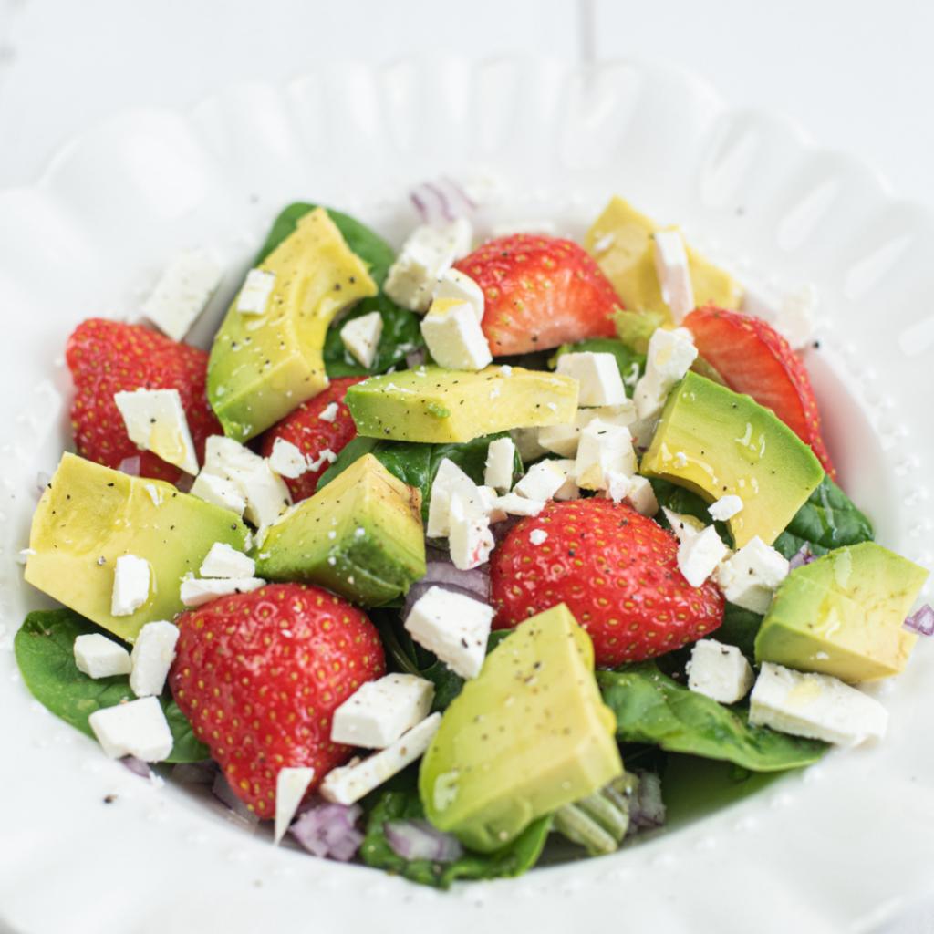aarbeien salade toetje
