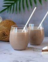 koolhydraatarme kokos amandelmelk smoothie