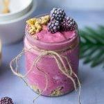 frozen yoghurt met bevroren fruit