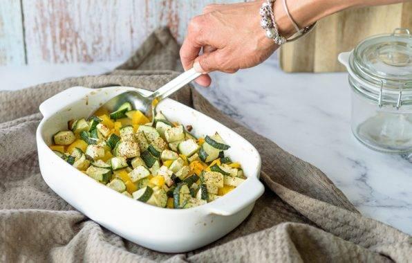koolhydraatarm recept voor gegrilde courgette