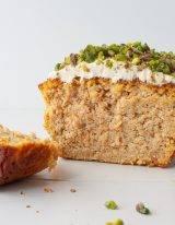 Gezonde carrot cake worteltaart met roomkaas topping