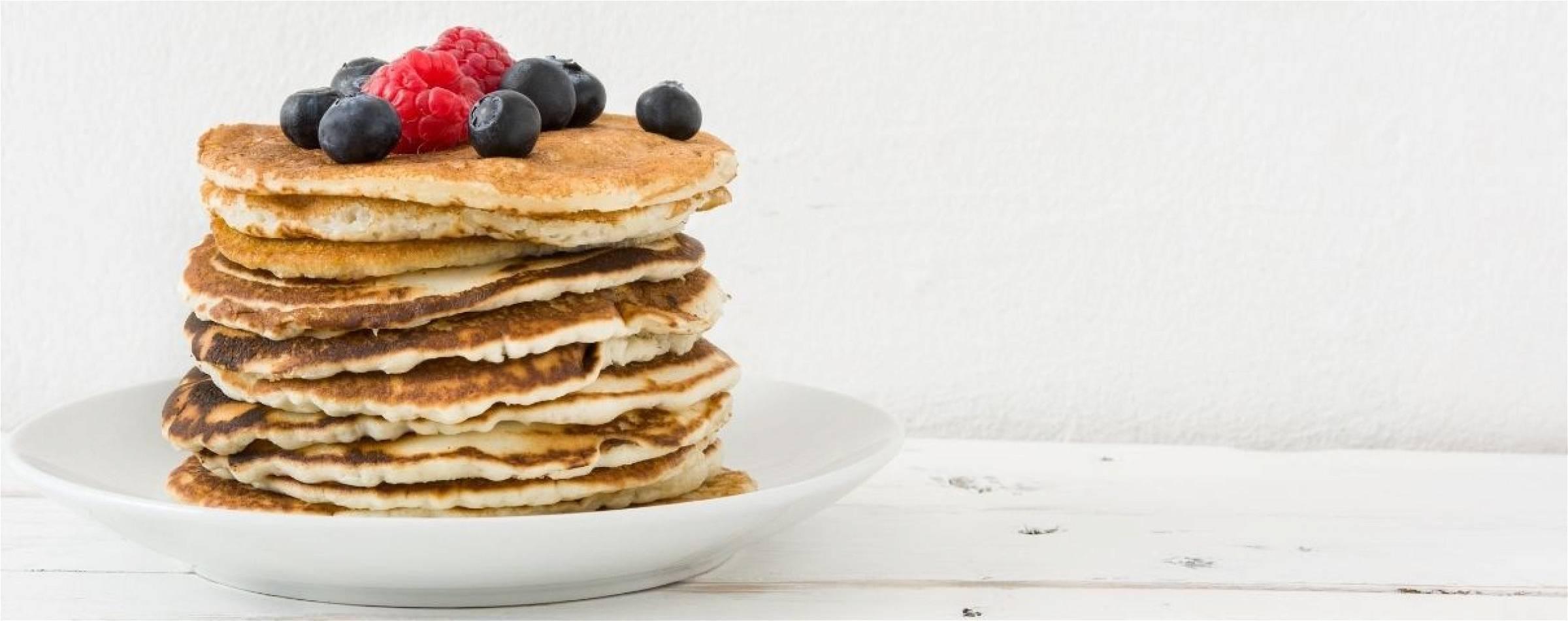 gezonde pannenkoeken in een koolhydraatarm dieet