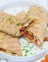 Gezonde wraps met kip en groente