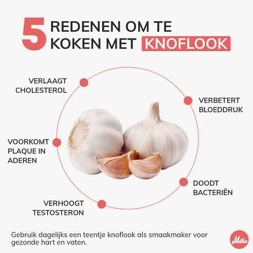 Voordelen van koken met knoflook